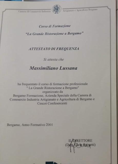 Massimiliano lussana corso grande ristorazione a bergamo