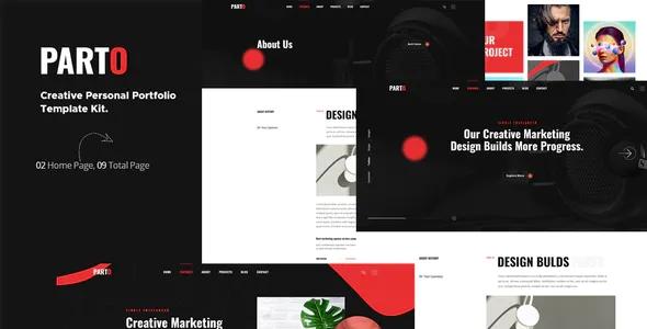 Best Creative Personal Portfolio Elementor Template Kit