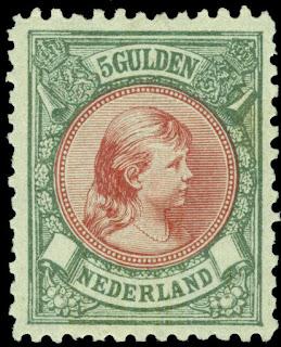 NETHERLANDS 1896 Princess Wilhelmina 5g bronze green