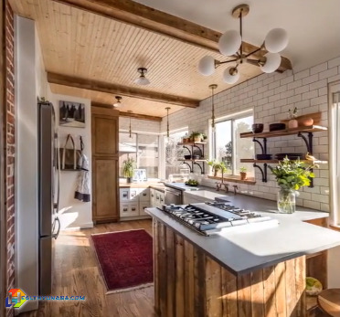 Kitchen design with a rustic feel