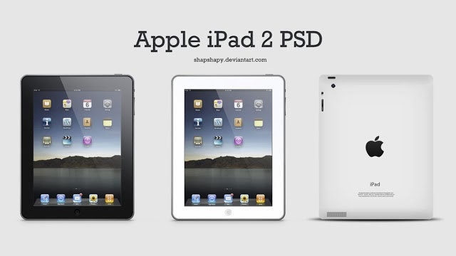 Apple iPad 2 PSD
