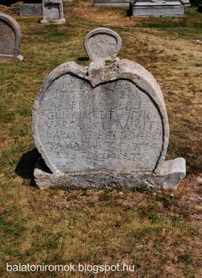 Balatonudvari temető sírköve 1835-ből