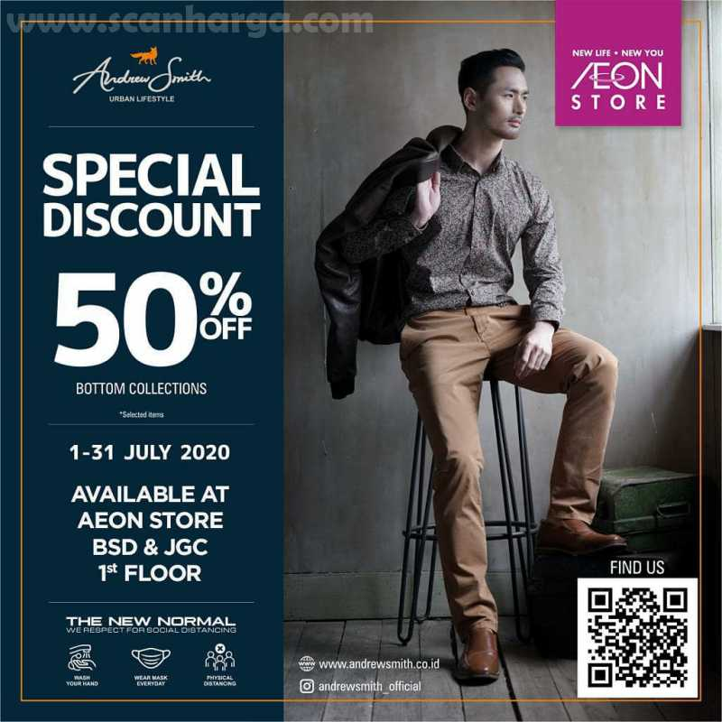 AEON Store Promo Andrew Smith Special Discount 50% Off!