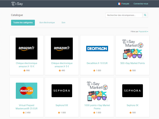 Earn Gift Cards from Ipsos Isay