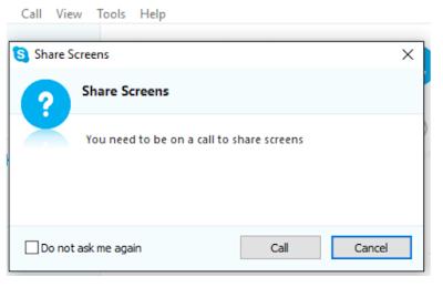 Cara Menampilkan Layar (Desktop) Saat Melakukan Panggilan Skype