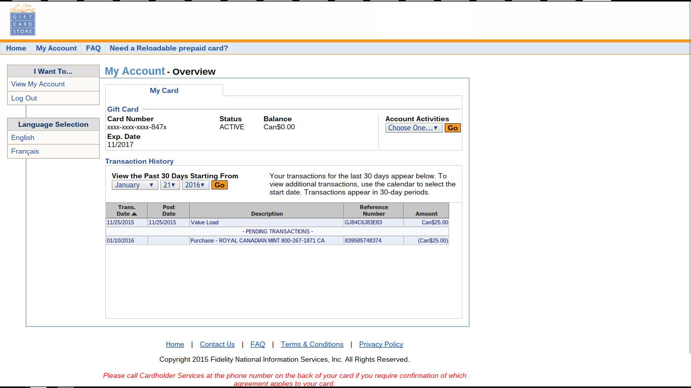 RFC 3514: Converting MasterCard/Visa prepaid/gift cards into