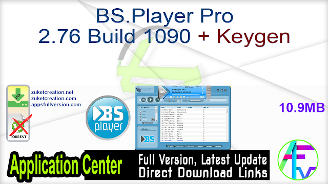 BS.Player Pro 2.76 Build 1090 + Keygen