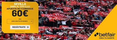 betfair supercuota champions Sevilla gana al Cluj 20 febrero 2020