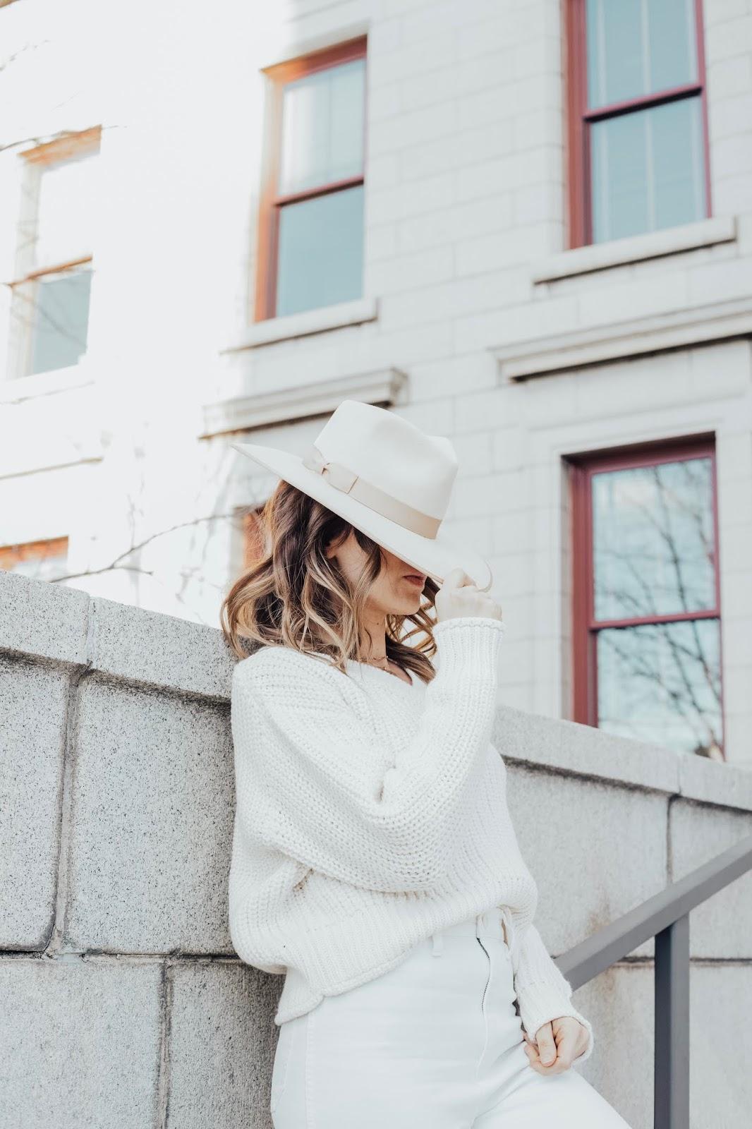 ivory spring hat
