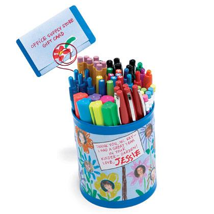Pencil Cup with a Gift Card
