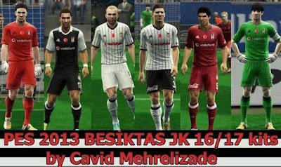 PES 2013 Beşiktaş 2016-17 GDB Kits by Javid Mehralizadeh