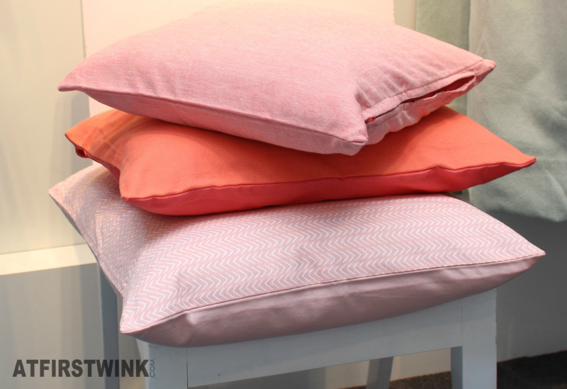 HEMA pillows pink and orange