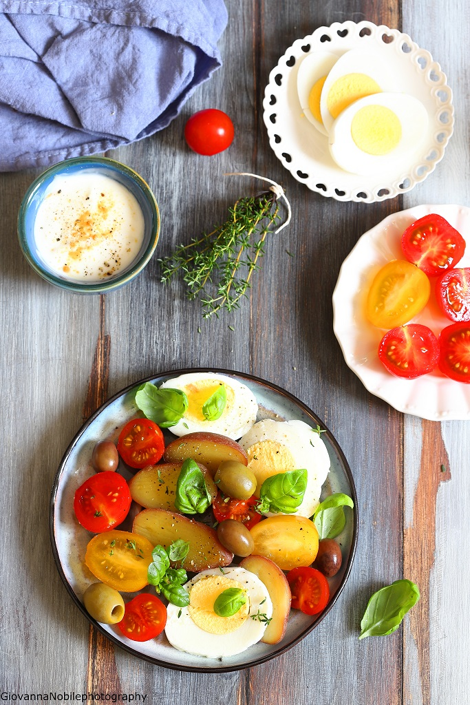 Insalata di patate con dressing di yogurt