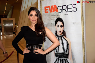 Beautiful Milky white Tamanna Bhatia in Black dress at Qutone New nd Launch ~ .xyz Exclusive 008.jpg