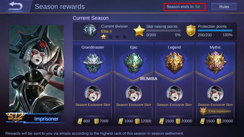 Penyesuaian Tier dari Season 12 ke Season 13 (S12 - S13) - Mobile