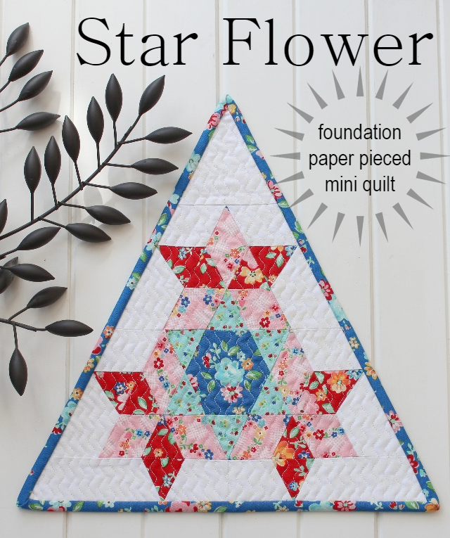 Star Flower Mini Quilt Pattern Your Free September 2018 Calendar