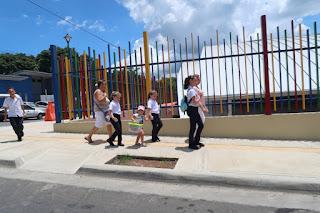 school street corner, Ciudad Colon, Costa Rica