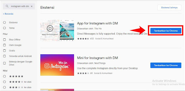 Cara Mengirim Direct Message (DM) Instagram Di Laptop Tanpa Emulator
