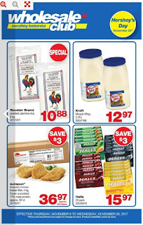 Wholesale club Flyer November 10 - 16, 2017