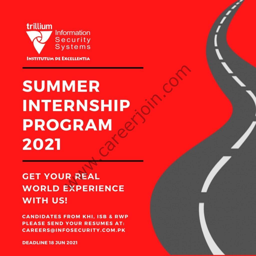 careers@infosecurity.com.pk - Trillium Information Security Systems TISS Summer Internship Program 2021 in Pakistan