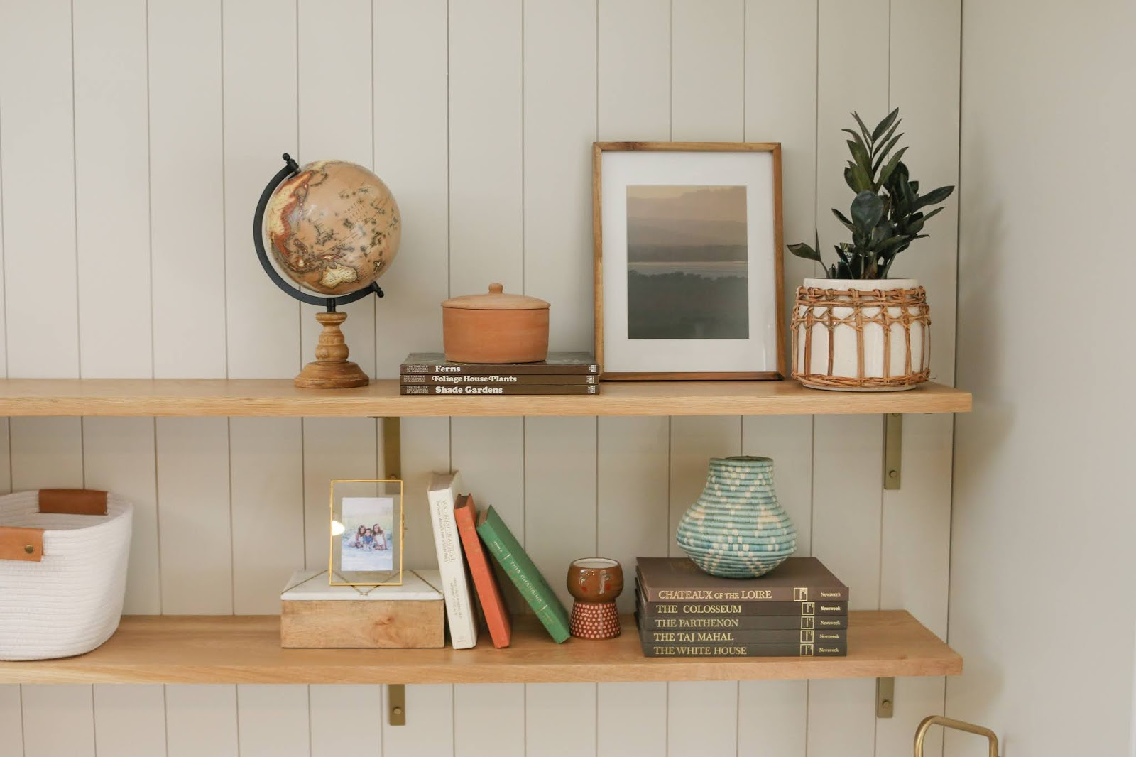 How We Transformed a Blank Wall into a Useful Office Nook