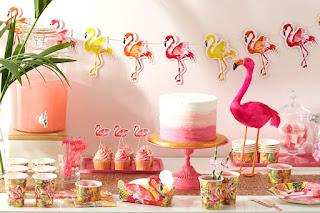 Festa menina flamingo