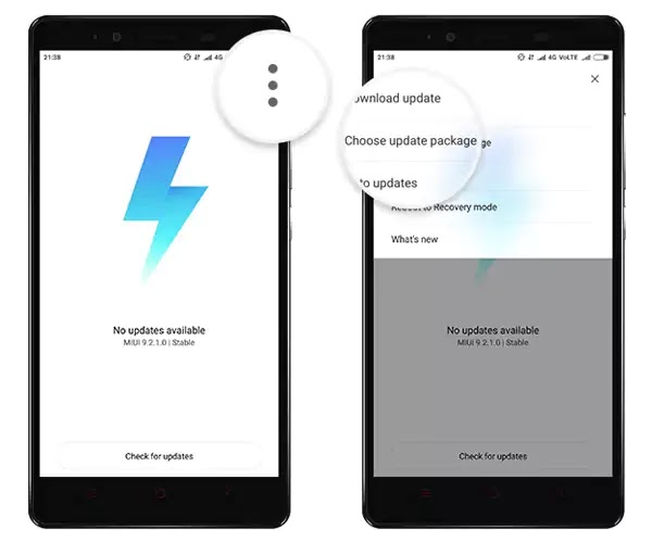 Install MIUI 10 Recovery ROM Updater App