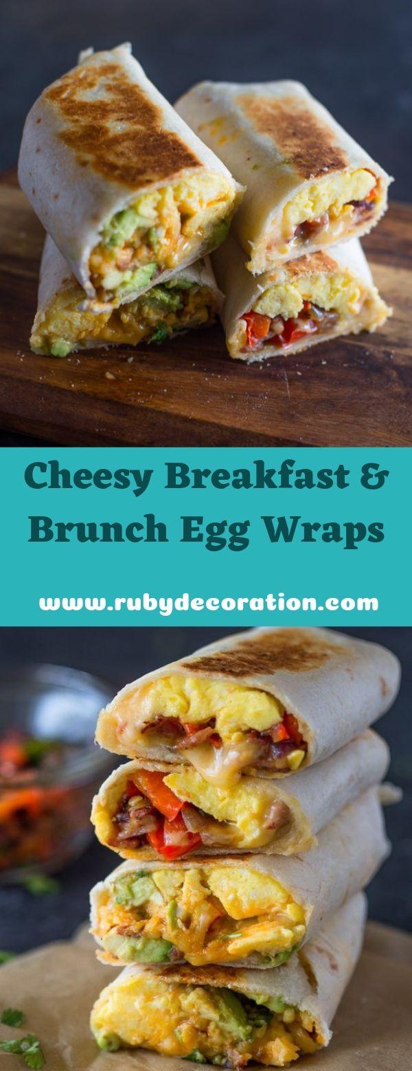 Cheesy Breakfast & Brunch Egg Wraps