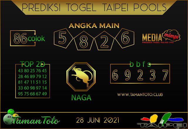 Prediksi Togel TAIPEI TAMAN TOTO 28 JUNI 2021