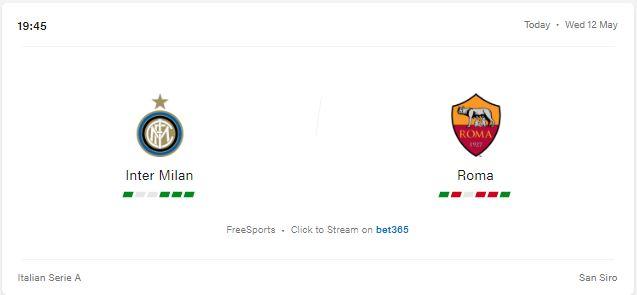 Inter Milan vs Roma Preview and Prediction 2021