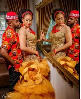 Willaims Uchemba's wife house mansion kitchen traditional marriage wedding