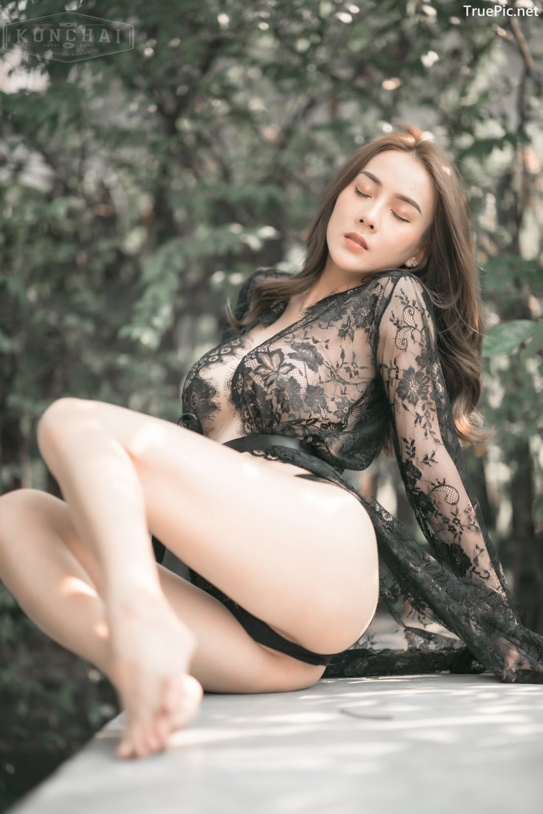 Image Thailand Sexy Model - Soraya Upaiprom - Black Lace Lingerie - TruePic.net - Picture-5
