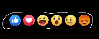 emojiconos para reaccionar a las publicaciones de facebook