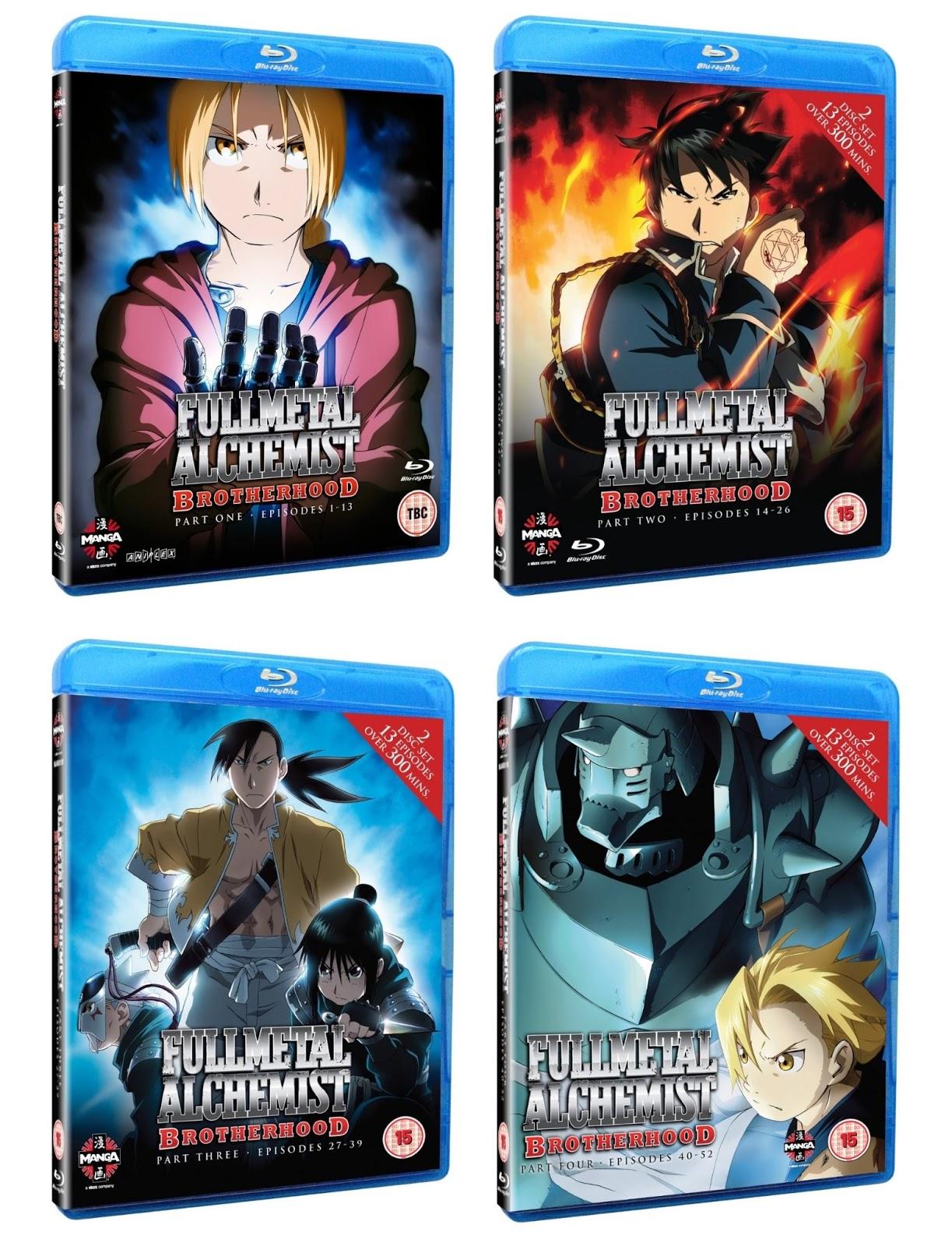 Aesthetica Of A Rogue Hero Ita anime on blu-ray!: fullmetal alchemist brotherhood - part