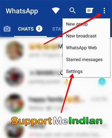 select whatsapp setting