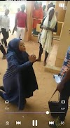 Chaos in Bayero University as girl goes on her knees to beg for the love of a guy [Video]