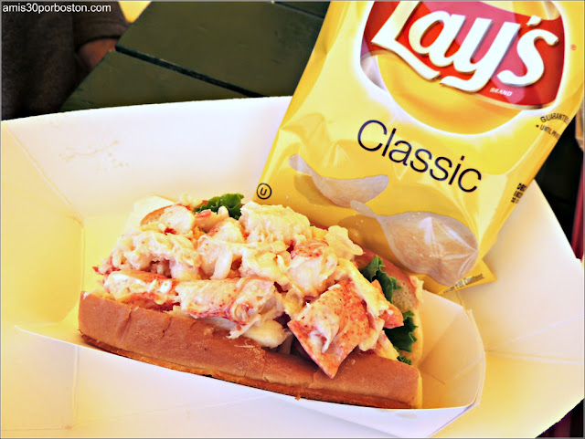 Lobster Roll de Thurston's Lobster Pound en Maine
