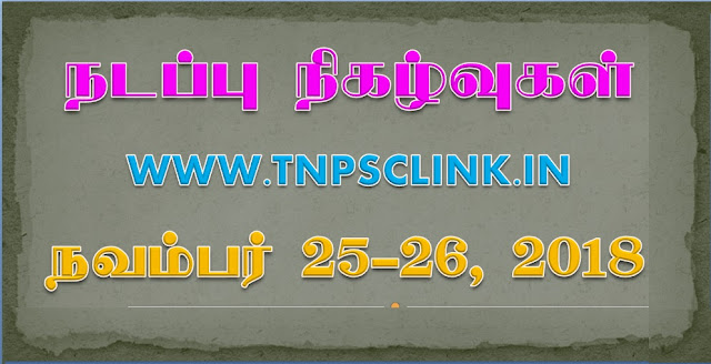 TNPSC Current Affairs 2018, 2019 Download PDF Here
