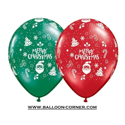 Balon Latex Print MERRY CHRISTMAS (NEW DESIGN)