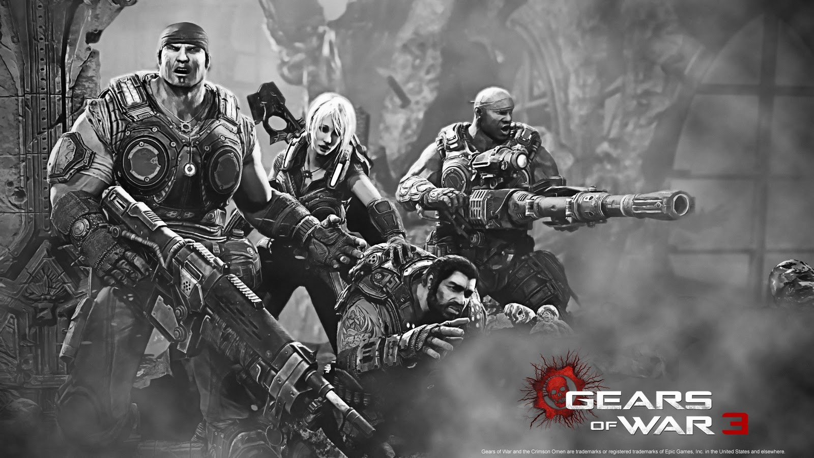 gears of war 3 wallpaper cogs
