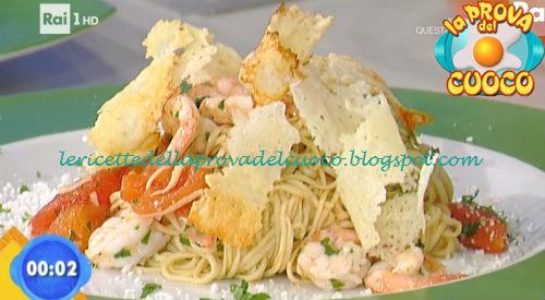 Tagliolini di castelmagno e gamberi ricetta Bertol da Prova del Cuoco