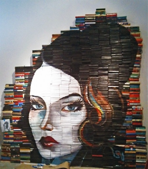 12-Mike-Stilkey-Books-used-as-Canvasses-for-Paintings-www-designstack-co