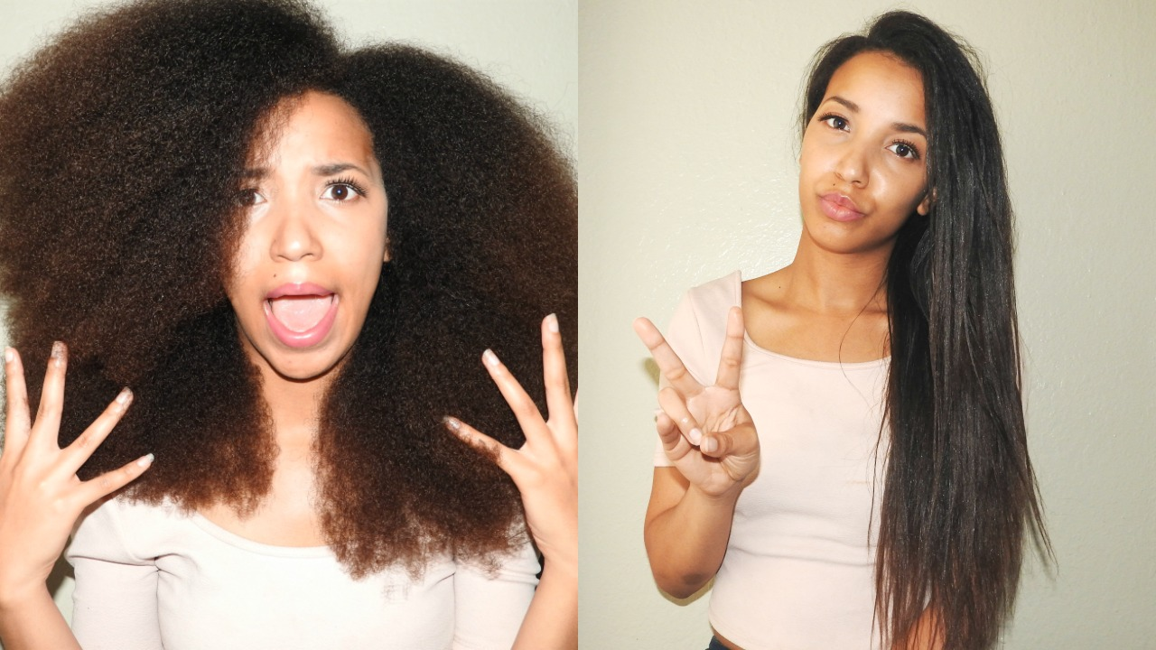 How To Straighten Natural Hair Safely