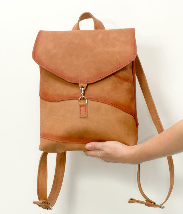 Leather Backpack Patchwork Tutorial
