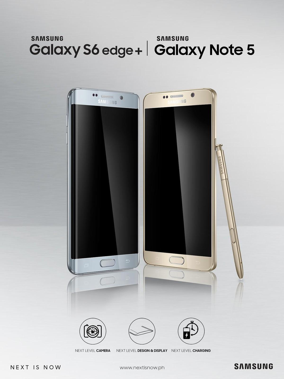Samsung Galaxy Note5 and Samsung Galaxy S6edge+