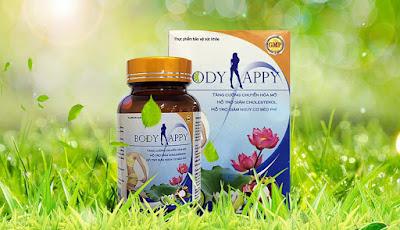 Body Happy, hỗ trợ giảm cân, giảm nguy cơ béo phì