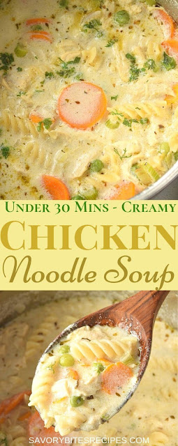 under 30 mins creamy chicken noodle soup