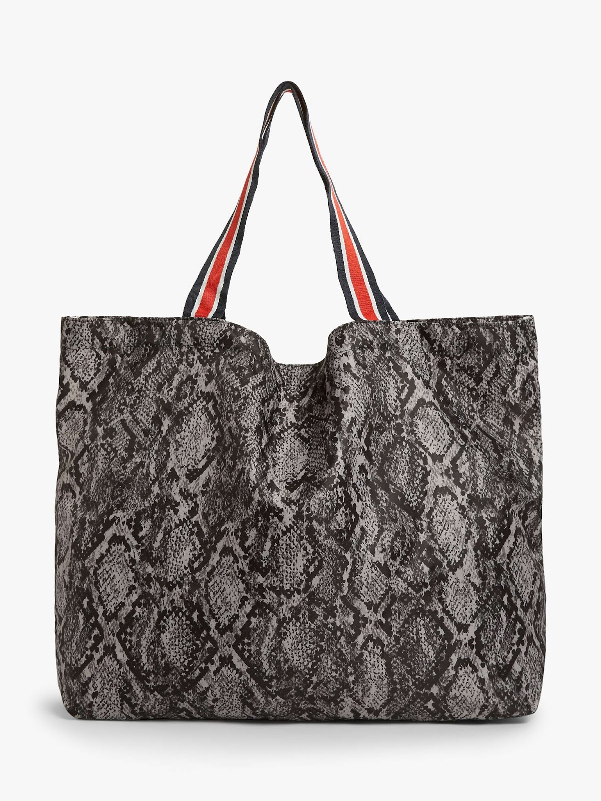 becksondergaard snake print foldaway bag