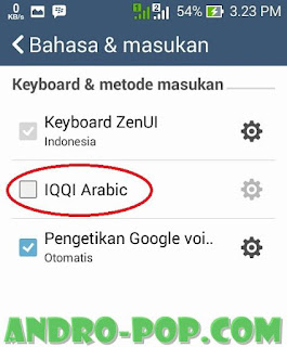 Menulis Bahasa Arab di Hp Android