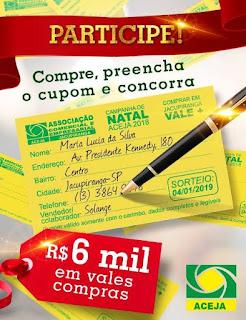 CAMPANHA DE NATAL EM JACUPIRANGA PREMIA CLIENTES, VENDEDOR,   LOJISTA E INTERNAUTA